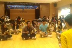 Saat belajar musik di daegu youth camp