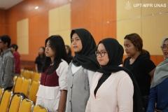 Para peserta SI FEST 2020 saat menyanyikan Indonesia Raya