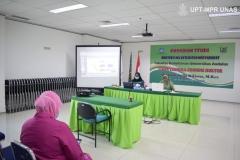 Proses sidang terbuka promosi doktol Dr. dr. Andi Julia Rifiana, M.Kes