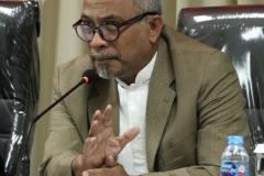 Koordinator S3 Ilmu Politik, Dr. TB. Massa Djafar dalam sidang senat terbuka Sdr Habib