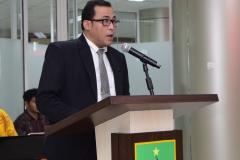 Sdr Dr. Muhammad Ramdan sedang membacakan hasil disertasinya kepada promotor dan penguji, di Jakarta (21/3)