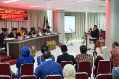 Suasana sidang promosi doktor Sdr. Umar Harun