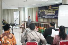 Proses sidang promosi doktor bidang ilmu politik Dr. Drs. Ganjar Razuni, S.H., M.Si.