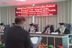 Sidang Promosi Doktor Program Ilmu Politik  Sekolah Pascasarjana UNAS atas nama Iramady Irdja pada Kamis, 23 September 2021