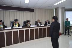 suasana khidmat sidang doktoral sdr. Teddy Suratmadji