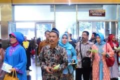 orangtua wali wisudawan dan wisudawati saat acara sidang senat terbuka periode genap di JCC