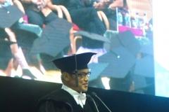 Prof. Ainun Na'im sebagai pembicara dalam acara sidang senat terbuka di JC