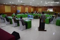 """Rapat Senat Universitas Nasional """"Menjadi Universitas Swasta yang Unggul di Indonesia dalam Pengembangan Ilmu Pengetahuan, Teknologi, dan Kebudayaan, serta Mendapat Rekognisi Internasional pada Tahun 2025"""" , yang digelar di Auditorium, Rabu (27/1)."""