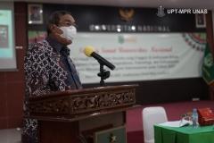 Sambutan oleh Ketua Yayasan Memajukan Ilmu dan Budaya, Dr. Ramlan Siregar, M.Si, dalam Rapat Senat Universitas Nasional, yang digelar di Auditorium, Rabu (27/1).