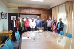 Unas_foto bersama antara dekan, kaprodi dan alumni teknik fisika dengan rektor Unas