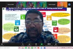 Wakil Rektor Bidang Akademik Universitas Nasional Prof. Dr. Iskandar Fitri, S.T.,M.T. saat memaparkan materinya dalam acara Seminar Nasional Teknologi Sains dan Informasi (SNTSI) – Batch #1 pada 24 Februari 2021 melalui aplikasi zoom