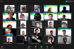 Peserta webinar sosialisasi pengisian KRS yang dihadiri oleh mahasiswa di lingkungan FTKI Unas