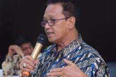 Direktur Akademi Pariwisata Nasional Eddy Guridno, S.E., M.Si.M. saat menjelaskan tentang akparnas di depan tamu undangan