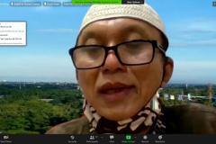 Keynote Speaker dalam kegiatan, Ketua PW Asosiasi Masjid Kampus Indonesia (AMKI) DKI Jakarta, Dr. Muchlas Suseno, M.Pd. sedang menyampaikan materinya