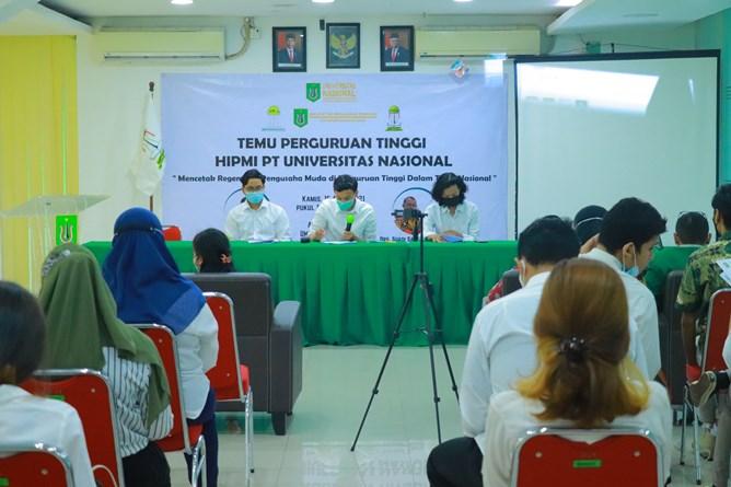 Pelaksaan Sidang Pleno HIMPI Perguruan Tinggi Universitas Nasional pada hari Kamis, 14 April 2021
