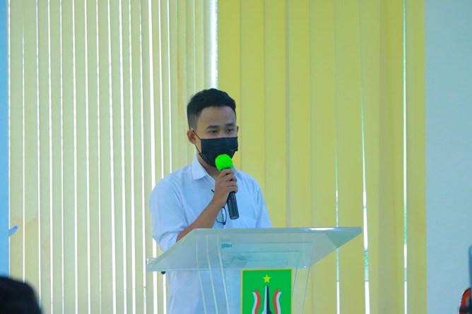 Ketua Pelaksana Sidik Ismoyo pada Temu Mahasiswa HIPMI Perguruan Tinggi Universitas Nasional yang diselenggarakan Inkubator Wirausaha UNAS pada hari Kamis, 15 April 2021