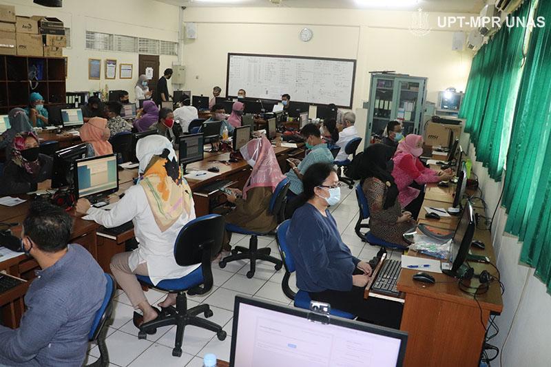 Tes TKDA dan TOEP yang dilaksanakan di Universitas Nasional dalam rangka menciptakan dosen yang kompeten pada Kamis, 13 Agustus 2020