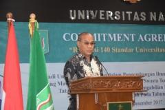 Dr.Drs. El Amry Bermawi Putera, M.A (Rektor Universitas nasional)