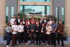 Foto bersama tim peradilan semu fakultas hukum unas saat perlombaan mood court tingkat nasional di universitas lampung pada 19-23 September 2019