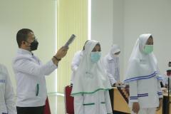 Prosesi ucap janji kepaniteraan mahasiswi Profesi Ners Dan Profesi Bidan
