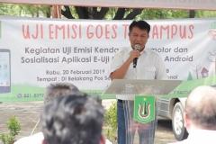 Kepala BAU Drs. Ian Zulfikar, M.Si saat memberikan sambutan