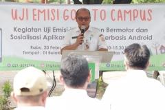 Sambutan oleh perwakilan Dinas Lingkungan hidup DKI Jakarta