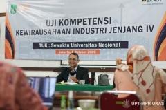 Uji Kompetensi Kewirausahaan Industri jenjang IV, pada Senin, (5/10).