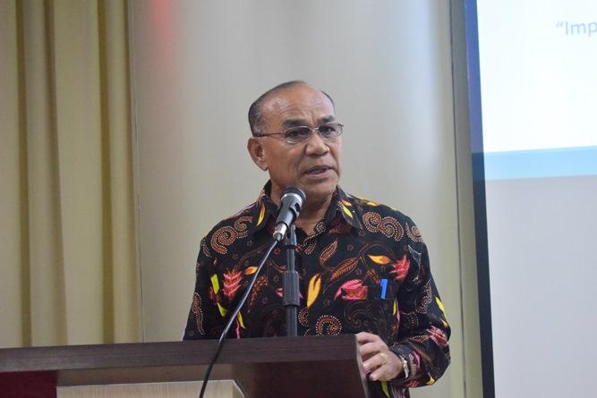 Rektor Universitas Nasional Dr El Amry Bermawi Putera, MA sedang menjelaskan tentang peluang bekerja di Korea (2)