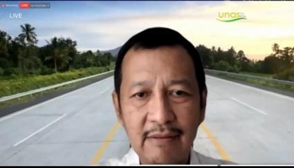 Corporate Communications and Community Development Group Head PT Jasa Marga, Dwimawan Heru pada Kegiatan Virtual Sales UMKM Binaan Jasamarga pada hari Selasa, 15-12-2020 di Aula Universitas Nasional