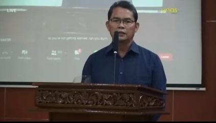 Drs. Suadi Sapta Putra, M.Si.,M.Si.M. selaku Ketua UPT Wirausaha Mandiri Universitas Nasional pada kegiatan Virtual Sales UMKM Binaan Jasamarga pada hari Selasa, 15-12-2020 di Aula Universitas Nasional
