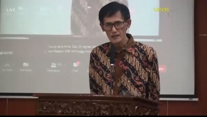 Ketua Tim Pelaksana Virtual Sales  UMKM Binaan Jasamarga, Ir. Asep Sopandi, M.M pada hari Selasa, 15-12-2020 di Aula Universitas Nasional