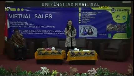 Pembukaan Kegiatan Virtual Sales UMKM Binaan Jasamarga pada hari Selasa, 15-12-2020