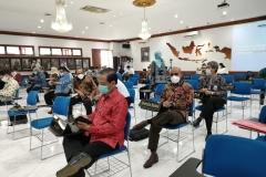 Situasi saat acara Penandatangan Perjanjian Kerja Sama Antara Lembaga Layanan Perguruan Tinggi Wilayah III dengan Konsorsium Publikasi Ilmiah Bidang Ilmu Sosial (Universitas Nasional) Tentang Pelaksanaan Kegiatan Konsorsium Publikasi Ilmiah Bidang Ilmu Sosial Pada Selasa, 23 Februari 2021, di Gedung LLDIKTI Wilayah III Jakarta