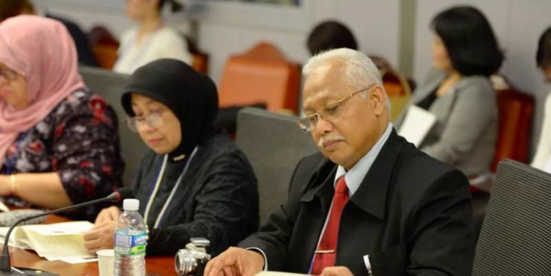 Delegasi UNAS dan UGM saat seminar berlangsung