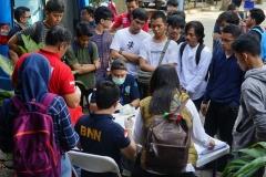BNN melakukan operasi narkotika di kampus Universitas Nasional, Pasar Minggu, Jakarta Selatan pada Selasa 25 Juni 2019