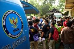 UNAS bekerjasama dengan BNN, Polda Metro Jaya dan Polres Jaksel merazia mahasiswa sebagai bentuk komitmen UNAS memberantas narkoba