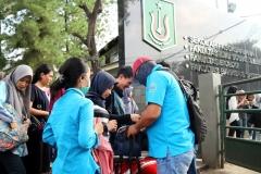 Mahasiswa Universitas Nasional sedang dilakukan pemeriksaan yang dilakukan secara rutin oleh BNN