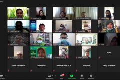 Pelatihan workshop penulisan berita dan tata kelola konten website pada Rabu, 25 Februari 2021 melalui aplikasi zoom