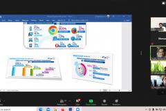 Saat kegiatan pelatihan workshop penulisan berita dan tata kelola konten website berlangsung pada Rabu, 25 Februari 2021 melalui aplikasi zoom