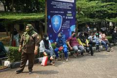Vaksinasi yang di selenggarakan Universitas Nasional kepada masyarakat umum dan civitas akademika Unas, pada Rabu, 25 Agustus 2021