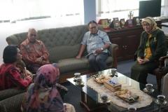 Pertemuan pimpinan UNAS dan pimpinan FIKES dengan asesor pada Selasa, (23/7) di ruang rektor UNAS