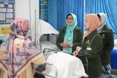 Asesor melakukan kunjungan ke laboratorium yang dimiliki prodi D-IV kebidanan  sebagai pendukung pekuliahan