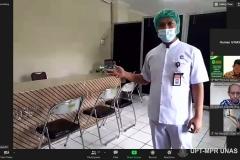 Saat Virtual tour wahana praktik rumah sakit dalam acara visitasi akreditasi assesmen lapangan secara daring oleh  Lembaga Akreditasi Mandiri Pendidikan Tinggi Kesehatan (LAM-PTKes) pada Rabu sampai Sabtu (11-14/11)