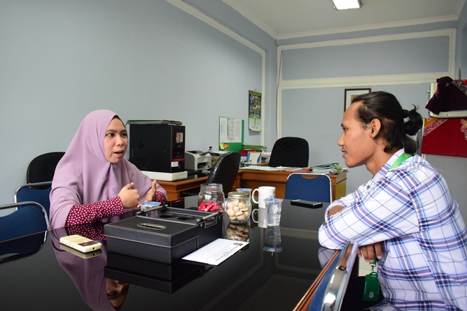 Anisa Arumningtyas saat di Wawancarai Tim Humas