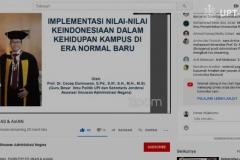 Webinar juga diselenggarakan melalui streaming Youtube
