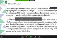 Materi yang disampaikan oleh Dosen Fakultas Ekonomi dan Bisnis Dr. Bambang Subiyanto, S.E., M.Ak., CPA.