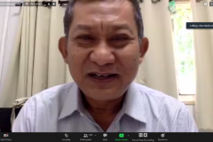 """DekanFakultas Ekonomi dan Bisnis Universitas Nasional Dr. Suryono Efendi, SE.,MM. saat memberikan sambutan  dalam Webinar series 4 Fakultas Ekonomi dan Bisnis Universitas Nasional """"Tantangan Perekonomian Menghadapi New Normal di Indonesia"""" di Jakarta, Rabu (2/9)."""
