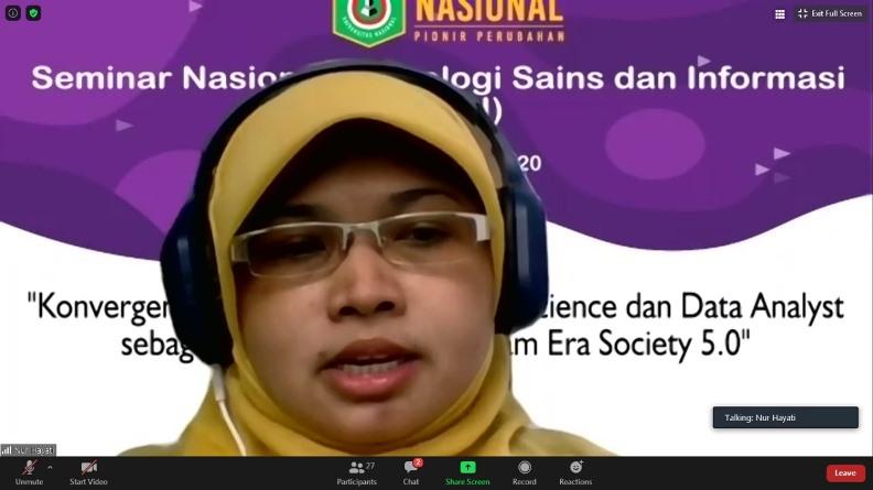 Sambutan dari Ketua Panitia Nur Hayati, S.Si., MTI