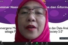 Sambutan dari Dekan FTKI, Dr. Septi Andryana, S.Kom., M.MSI.