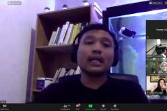 """Founder EFG-ERFOLGHABEN Ferdian Aryo Kusuma saat menjadi narasumber pada kegiatan Webinar Manajemen """"Strategi Pemasaran Bisnis Menghadapi Masa New Normal Covid-19"""" di Jakarta, pada Rabu (15/7)."""